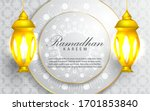 ramadan kareem islamic wishes...   Shutterstock .eps vector #1701853840