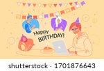 happy birthday celebration... | Shutterstock .eps vector #1701876643