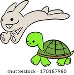Stock vector the tortoise and the hare 170187980