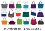 woman bag isolated cartoon set... | Shutterstock .eps vector #1701881563