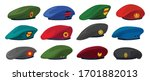 military beret isolated cartoon ... | Shutterstock .eps vector #1701882013