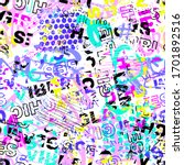 abstract seamless chaotic... | Shutterstock .eps vector #1701892516