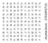 analytics line icon set.... | Shutterstock .eps vector #1701893713