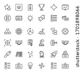business icon set. collection...   Shutterstock .eps vector #1701898066