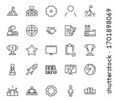 business icon set. collection... | Shutterstock .eps vector #1701898069