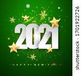green happy new year 2021... | Shutterstock .eps vector #1701922726
