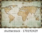 aged old world map | Shutterstock . vector #170192429