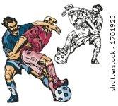 soccer players. vector...   Shutterstock .eps vector #1701925
