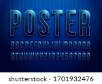 3d font from dark blue color ... | Shutterstock .eps vector #1701932476