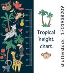 vector cute height chart with...   Shutterstock .eps vector #1701938209