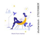 freelance worker or employee...   Shutterstock .eps vector #1701938839