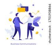 businessmen and businesswoman... | Shutterstock .eps vector #1701938866