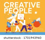 a group of young creative... | Shutterstock .eps vector #1701943960