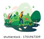 happy spring and summer.... | Shutterstock .eps vector #1701967339