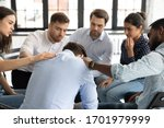 Multiethnic Young People Sit In ...