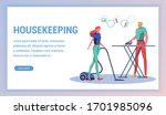 family housekeeping concept.... | Shutterstock .eps vector #1701985096