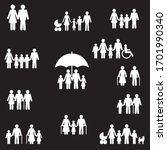people and family vector icons...   Shutterstock .eps vector #1701990340