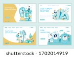 social network advertising. crm ... | Shutterstock .eps vector #1702014919