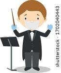 cute cartoon vector... | Shutterstock .eps vector #1702040443
