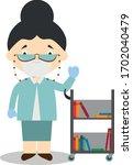 cute cartoon vector... | Shutterstock .eps vector #1702040479