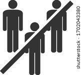 vector no men group flat icon.... | Shutterstock .eps vector #1702043380