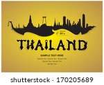 thailand travel design  vector... | Shutterstock .eps vector #170205689