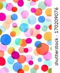 watercolor circles pattern | Shutterstock . vector #170209076