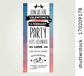 valentine's day party... | Shutterstock .eps vector #170209178