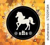 poster horse   symbol of new... | Shutterstock .eps vector #170209184