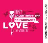 valentine's day poster... | Shutterstock .eps vector #170209220