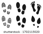 collection of human walking... | Shutterstock .eps vector #1702115020