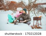 family happy outdoors. | Shutterstock . vector #170212028