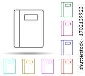 notebook multi color icon....