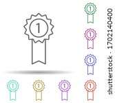 medal 1 place multi color icon. ...