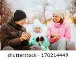 family happy outdoors. | Shutterstock . vector #170214449