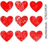 grunge hearts | Shutterstock .eps vector #170214929