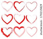 grunge hearts | Shutterstock .eps vector #170215829