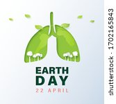 green lung and tree with earth... | Shutterstock .eps vector #1702165843