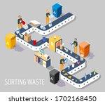 waste sorting plant  vector... | Shutterstock .eps vector #1702168450