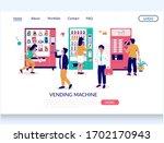 vending machine vector website... | Shutterstock .eps vector #1702170943