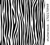 Seamless Pattern Of Zebra Skin