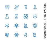 editable 16 atom icons for web... | Shutterstock .eps vector #1702193536
