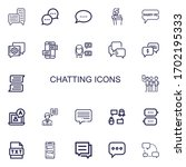 editable 22 chatting icons for...