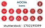 editable 14 mocha icons for web ... | Shutterstock .eps vector #1702195399
