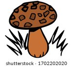 mushroom icon   vector   in...