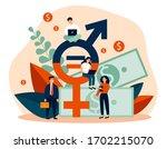 employees gender salary...   Shutterstock .eps vector #1702215070