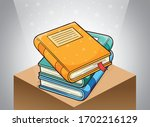 stack of books at library... | Shutterstock .eps vector #1702216129