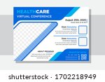 virtual conference of medical...   Shutterstock .eps vector #1702218949