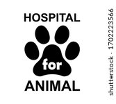 hospital for animal paw icon ...