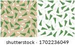 leek pattern. ripe leek  on... | Shutterstock .eps vector #1702236049